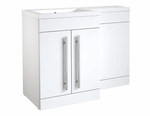 Matrix Gloss White 2 Door L-Shaped Furniture - 1100mm