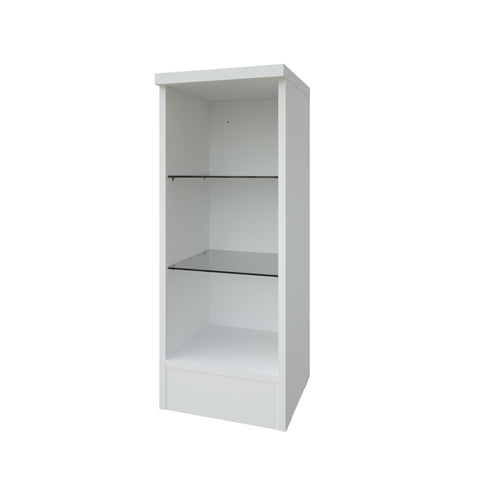 Purity White 300 Open Glass Shelf Unit