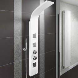 Luna White Thermostatic Shower