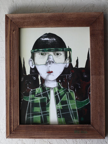 """Auntie Cath."" framed print"