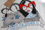Dinner II  t-shirt womens cut