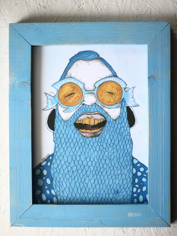 """Fishman"" framed print"