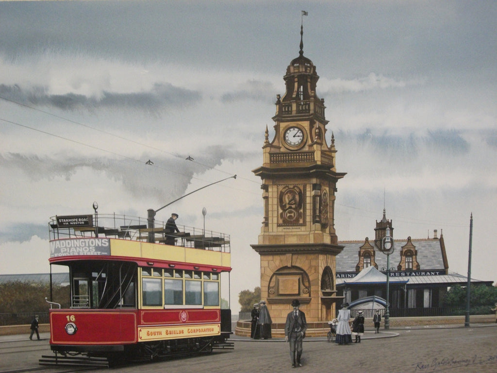 Pier Head Tram South Shields. -