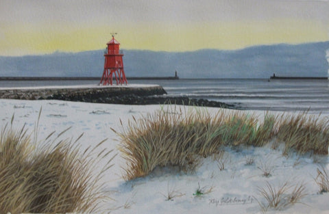 Groyne in the snow. -