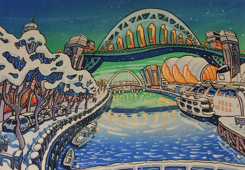 Tyne Bridge in Winter. -