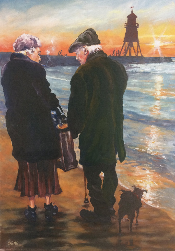 Elderly couple at the Groyne