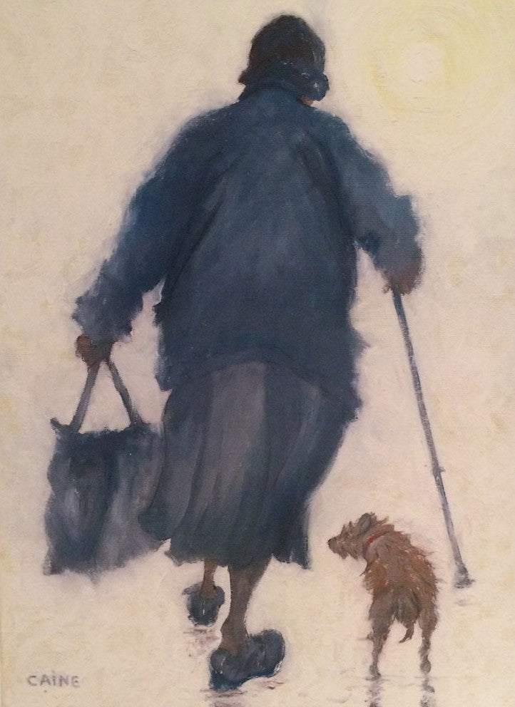 Lady with dog. -