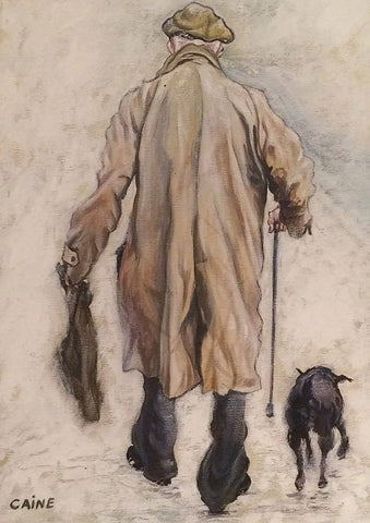 Old man with dog -