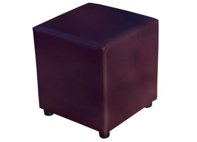 Cube Seating in Black Plum Faux Leather
