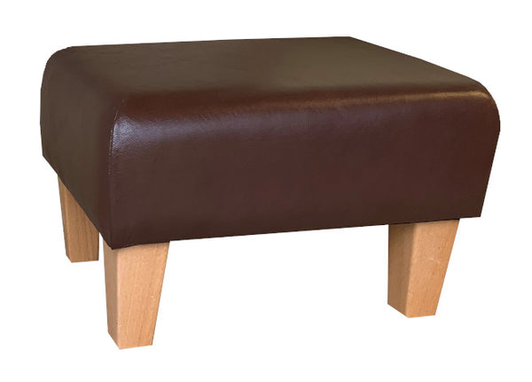Aged Oak Leather with Natural Contemporary Legs