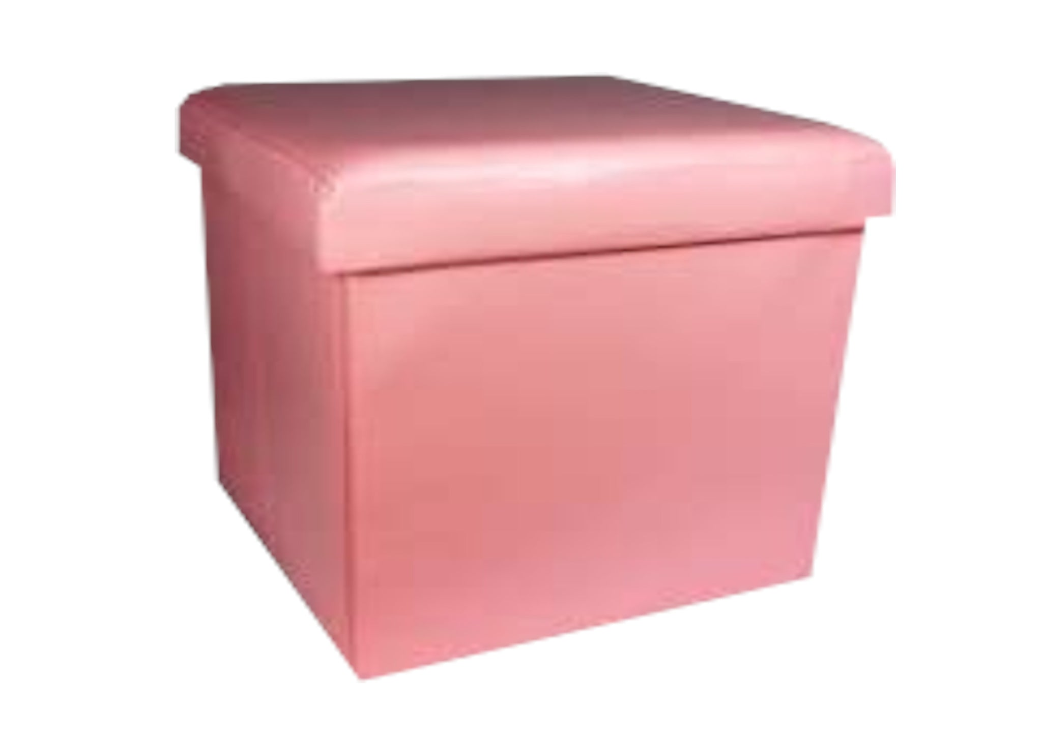 Children's Storage Seating in Ice Pink Faux Leather