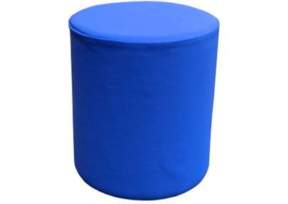 Drum Stool Seating in Cobalt Blue Faux Leather
