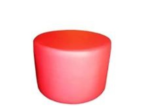 Small Drum Stool Seating in Candy Apple Faux Leather