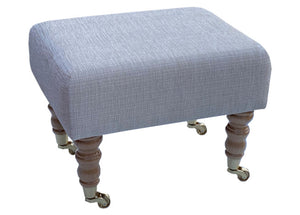 Wheat Ravello Fabric Footstool with Natural Caster Legs