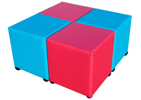 Cube Seating Candy Apple and Phoenician Collection - Footstools Direct