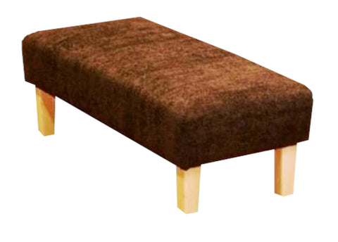 Chocolate Ravello Fabric Benchstool with Natural Contemporary Legs