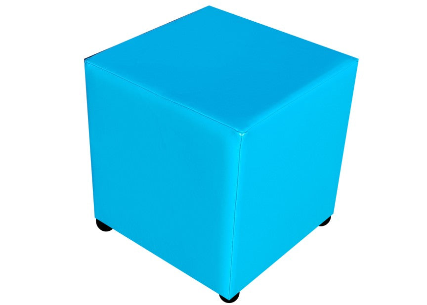 Cube Seating in Luxury Phoenician Faux Leather - Footstools Direct