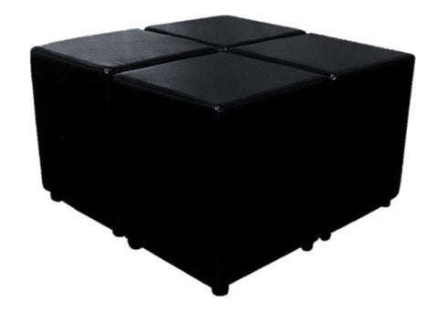 Four Black Faux Leather Cubes For The Price Of Three