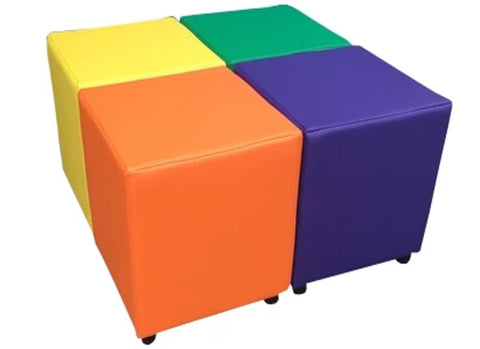 Cube Seating Primrose Collection - Footstools Direct
