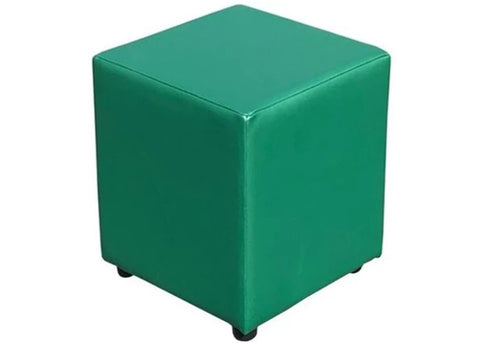 Cube Seating in Luxury Orchid Green Faux Leather - Footstools Direct