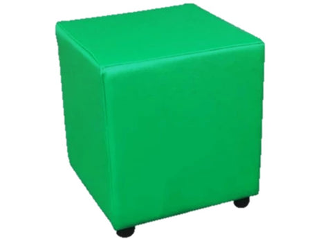 Cube Seating in Luxury Empire Green Faux Leather - Footstools Direct