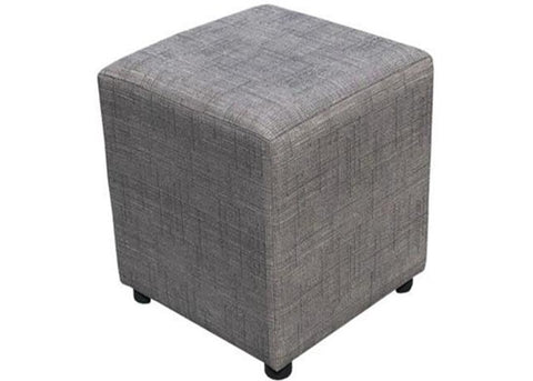 Cube Seating in Harrow Slub Grey - Footstools Direct