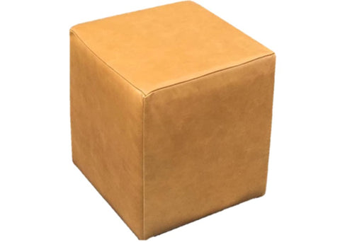 Cube Seating in Luxury Aged Ash Leather - Footstools Direct