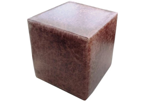 Cube Seating in Luxury Aged Dark Brown Leather - Footstools Direct