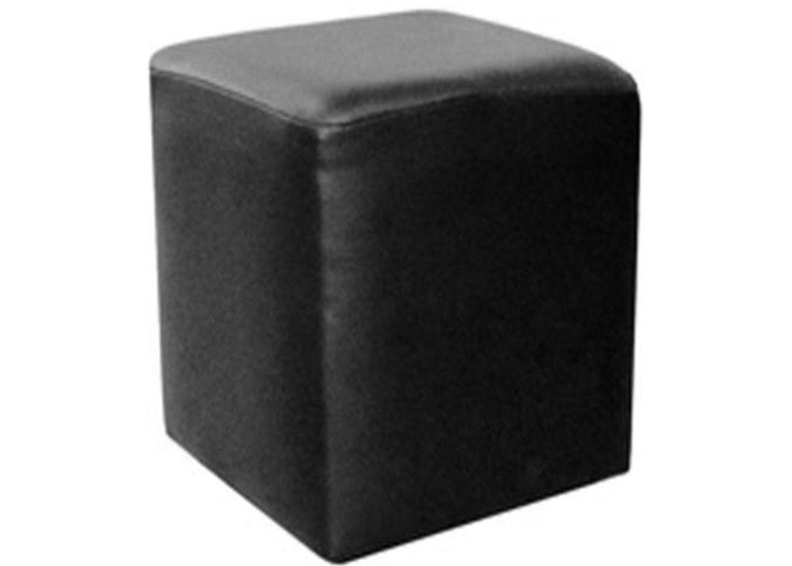 Cube Seating in Luxury Black Leather - Footstools Direct