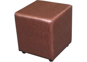 Cube Seating in Luxury Chestnut Faux Leather - Footstools Direct