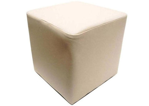 Cube Seating in Luxury Ivory Leather - Footstools Direct