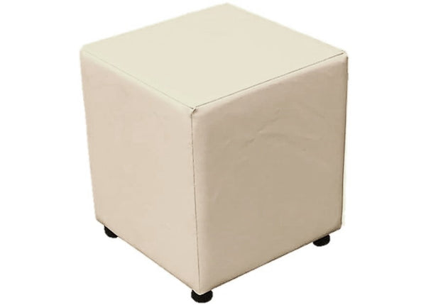 Cube Seating in Luxury Mushroom Faux Leather - Footstools Direct
