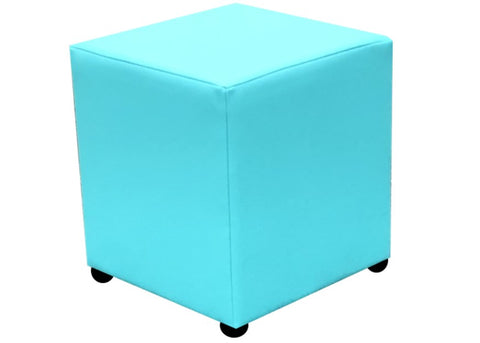 Cube Seating in Luxury Turk Faux Leather - Footstools Direct