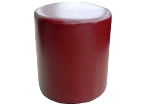 Drum Stool Seating in Luxury Rosehip Faux Leather - Footstools Direct
