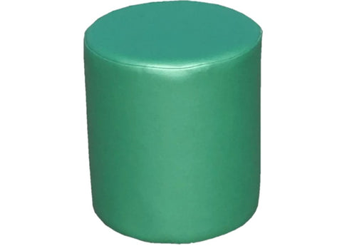 Drum Stool Seating in Luxury Orchid Green Faux Leather - Footstools Direct