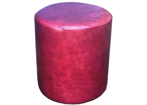 Drum Stool Seating in Luxury Blossom Pink Leather - Footstools Direct