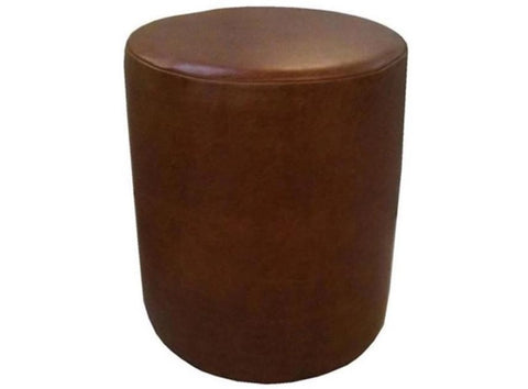 Drum Stool Seating in Luxury Mocha Brown Faux Leather - Footstools Direct