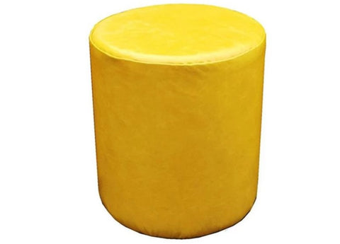 Drum Stool Seating in Luxury Sunflower Yellow Faux Leather - Footstools Direct