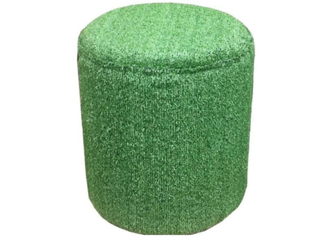 Drum Stool Seating in Artificial Grass - Footstools Direct