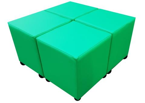 Four Empire Green Faux Leather Cubes For The Price Of Three