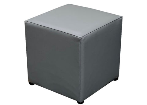 Cube Seating in Luxury Slate Grey Faux Leather