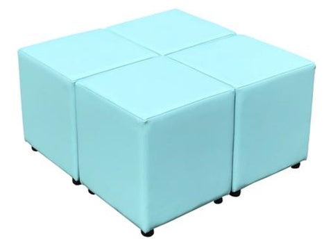 Cube Seating Light Teal Collection - Footstools Direct