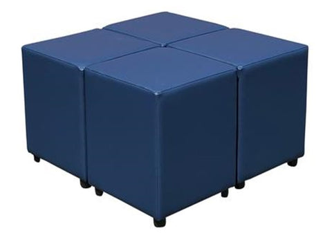 Cube Seating Cornflower Blue Collection - Footstools Direct