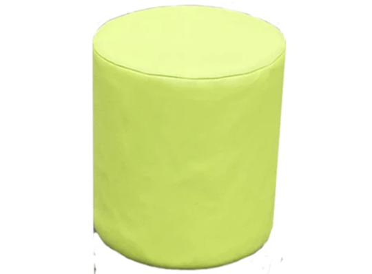 Drum Stool Seating in Leap Frog Faux Leather