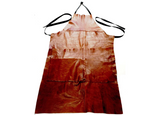 Workwear Apron in Aged Rust Leather - Footstools Direct