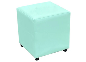 Cube Seating in Mint Julep Faux Leather