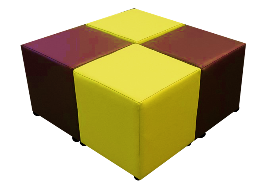Cube Seating Chocolate Limes Collection - Footstools Direct