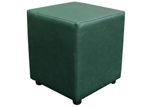 Cube Seating in Luxury Bottle Green Faux Leather - Footstools Direct