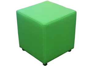 Cube Seating in Luxury Spectrum Lime Faux Leather - Footstools Direct