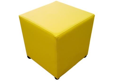 Cube Seating in Luxury Lemon Peel Faux Leather - Footstools Direct